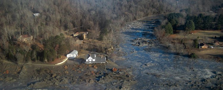 Coal ash spill in Kingston, Tenn. (Tennessee Valley Authority)